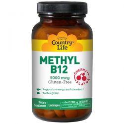 Country Life, Methyl B12, Cherry Flavor, 5000 mcg, 60 Lozenges Historyczne
