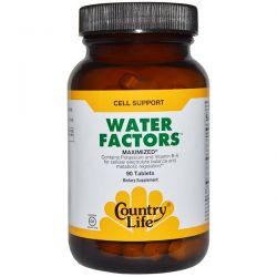 Country Life, Water Factors, Maximized, 90 Tablets Country