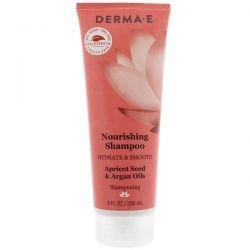 Derma E, Nourishing Shampoo, Hydrate & Smooth, Apricot Seed & Argan Oils, 8 fl oz (236 ml)
