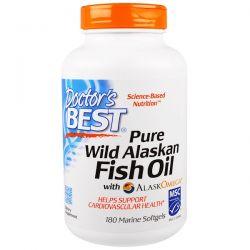 Doctor's Best, Pure Wild Alaskan Fish Oil with AlaskOmega, 180 Marine Softgels Historyczne