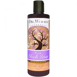 Dr. Woods, Raw Black Soap with Fair Trade Shea Butter, Original, 16 fl oz (473 ml) Pozostałe