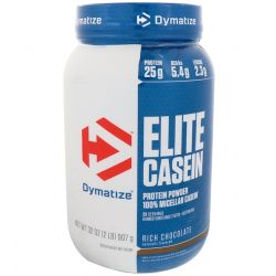 Dymatize Nutrition, Elite Casein, Rich Chocolate, 2 lbs (907 g)