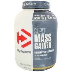 Dymatize Nutrition, Super Mass Gainer, Sugar Cookie, 6 lbs (2.7 kg)