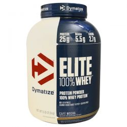 Dymatize Nutrition, Elite, 100% Whey Protein, Cafe Mocha, 5 lbs (2.27 kg)