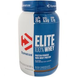 Dymatize Nutrition, Elite, 100% Whey Protein, Rich Chocolate, 2 lbs (907 g)