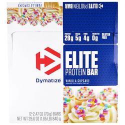Dymatize Nutrition, Elite Protein Bar, Vanilla Cupcake, 12 Bars, 2.47 oz (70 g) Each