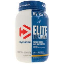 Dymatize Nutrition, Elite 100% Whey Protein, Snickerdoodle, 32 oz (907 g)