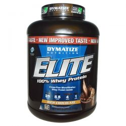 Dymatize Nutrition, Elite 100% Whey Protein, Rich Chocolate, 5 lbs (2,270 g)
