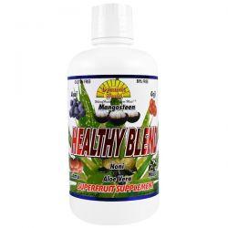 Dynamic Health  Laboratories, Healthy Blend,Superfruit Supplement, 32 fl oz (946 ml) Zdrowie i Uroda