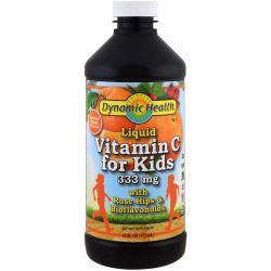 Dynamic Health  Laboratories, Liquid Vitamin C for Kids, Natural Citrus, 16 fl oz (473 ml)