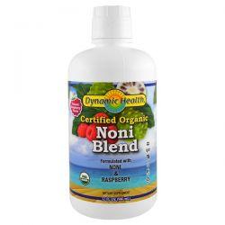 Dynamic Health  Laboratories, Organic Certified Noni Blend, Raspberry Flavor, 32 fl oz (946 ml)
