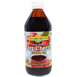 Dynamic Health  Laboratories, Once Daily, Organic Tart Cherry, Ultra 5X, 16 fl oz (473 ml)