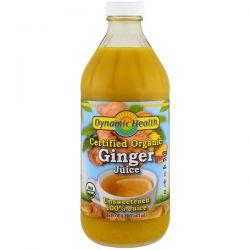 Dynamic Health  Laboratories, Certified Organic Ginger Juice, 16 fl oz (473 ml)