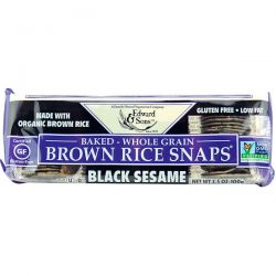 Edward & Sons, Baked Brown Rice Snaps, Black Sesame, 3.5 oz (100 g) Historyczne