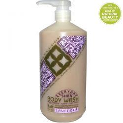 Everyday Shea, Moisturizing Body Wash, Lavender, 32 fl oz (950 ml) Historyczne