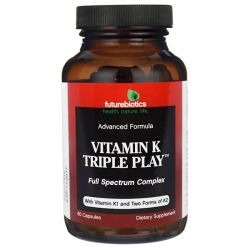 FutureBiotics, Vitamin K Triple Play, 60 Capsules