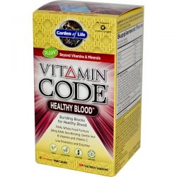 Garden of Life, Vitamin Code, Healthy Blood, 60 Vegan Caps Historyczne