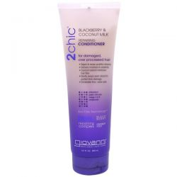 Giovanni, 2chic, Repairing Conditioner, for Damaged Over Processed Hair, Blackberry & Coconut Milk, 8.5 fl oz (250 ml)