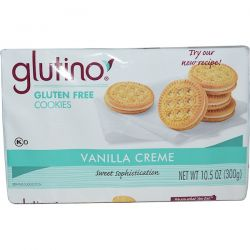 Glutino, Gluten Free Cookies, Vanilla Creme, 10.5 oz (300 g) Pozostałe