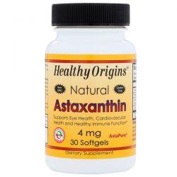 Healthy Origins, Natural Astaxanthin, 4 mg, 30 Softgels Historyczne