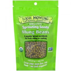 High Mowing Organic Seeds, Mung Beans, Sprouting Seeds, 4 oz (113 g) Historyczne