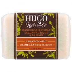 Hugo Naturals, Handcrafted Soap, Creamy Coconut, 4 oz (113 g) Country