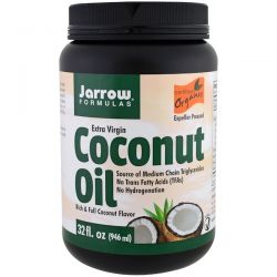 Jarrow Formulas, Organic Extra Virgin Coconut Oil, Expeller Pressed, 32 fl oz (946 ml) Pozostałe