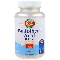KAL, Pantothenic Acid, 1000 mg,  100 Tablets Historyczne