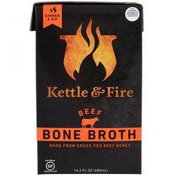 Kettle & Fire, Bone Broth, Beef, 16.2 fl oz (480 ml)