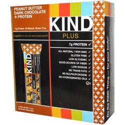 KIND Bars, Plus, Fruit & Nut Bars, Peanut Butter Dark Chocolate + Protein, 12 Bars, 1.4 oz (40 g) Each