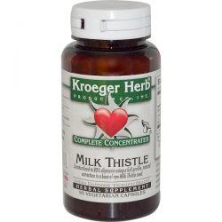 Kroeger Herb Co, Complete Concentrates, Milk Thistle, 90 Veggie Caps Historyczne