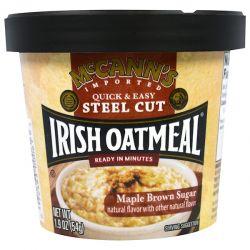 McCann's Irish Oatmeal, Quick & Easy Steel Cut, Maple Brown Sugar, 1.9 oz (54 g) Country