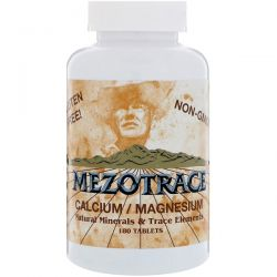 Mezotrace, Calcium / Magnesium, Natural Minerals & Trace Elements, 180 Tablets Country