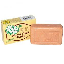 Monoi Tiare Tahiti, Coconut Oil Soap, Sandalwood Scented, 4.55 oz (130 g) Country