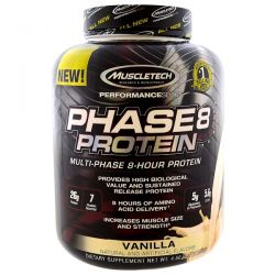 Muscletech, Performance Series, Phase8, Multi-Phase 8-Hour Protein, Vanilla, 4.60 lbs (2.09 kg) Country