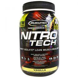 Muscletech, Nitro Tech, Whey Isolate+ Lean MuscleBuilder, Vanilla, 2.00 lbs (907 g)