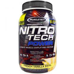 Muscletech, Nitro Tech Power, French Vanilla Swirl, 2 lbs (907 g)