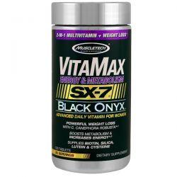 Muscletech, Vitamax, Energy & Metabolism, SX-7 Black Onyx, For Women, 120 Tablets