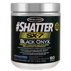 Muscletech, #Shatter, SX-7, Black Onyx, Pre-Workout, Blue Raspberry Blast, 12.49 oz (354 g)