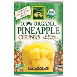 Native Forest, 100% Organic Pineapple Chunks, 14 oz (400 g) Historyczne