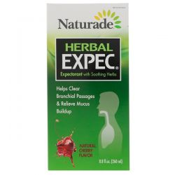 Naturade, Herbal Expec, Natural Cherry Flavor, 8.8 fl oz (260 ml) Historyczne