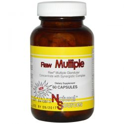 Natural Sources, Raw Multiple, 60 Capsules Pozostałe