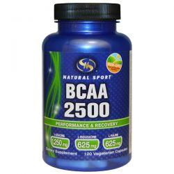 Natural Sport, BCAA 2500, 120 Veggie Caps Historyczne
