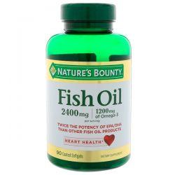 Nature's Bounty, Fish Oil, 2,400 mg, 90 Coated Softgels Historyczne