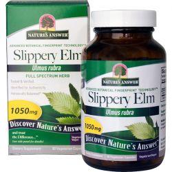 Nature's Answer, Slippery Elm, Ulmus Rubra, 1050 mg, 90 Vegetarian Capsules Country