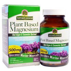 Nature's Answer, Plant Based Magnesium, 500 mg, 90 Vegetarian Capsules Historyczne