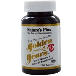 Nature's Plus, Golden Years, Multi-Vitamin & Mineral Supplement, 180 Tablets Historyczne
