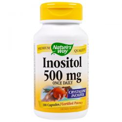 Nature's Way, Inositol, Once Daily, 500 mg, 100 Capsules