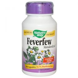 Nature's Way, Feverfew, Standardized, 60 Capsules Country