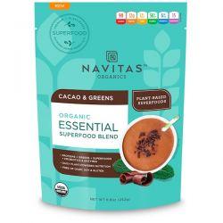 Navitas Organics, Organic Essential Superfood Blend, Cacao & Greens, 8.8 oz (252 g)